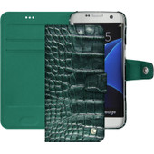 Noreve Tradition B Crocodile Leather Case Samsung Galaxy S7 Groen