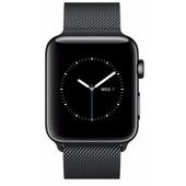 Apple Watch Series 2 38mm Space Zwart Roestvrij Staal/Milanese Polsband