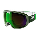POC Fovea Methane Green + Persimmon Blue Mirror Lens