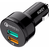 Aukey Car Charger Dual USB 3.0A Black