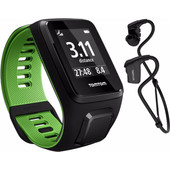 TomTom Runner 3 Music + Headphones Black/Green - L