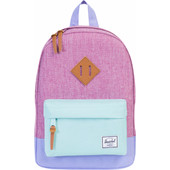 Herschel Heritage Kids Fuschia Crossh/Blue Tan Leather