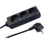 Deltac Power Strip 230V Black 3 Meters