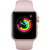 Apple Watch Series 3 38mm Goud Aluminium/Roze Sportband