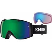 Smith I/O Black + Sun Green Mirror & Storm Rose Flash Lenzen
