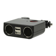 Veripart Autolader Dual Car Socket + Dual USB