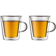 Bodum Canteen Dubbelwandig Glas Met Oor 20 cl (2 stuks)