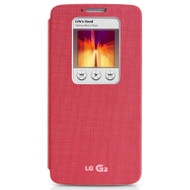 LG G2 Quick Window Cover Pink