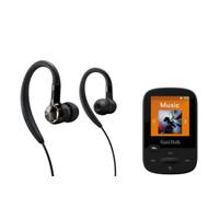 Philips sportbundel: oorhaakjes + sport MP3-speler