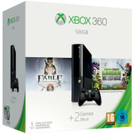 Microsoft Xbox 360 500 GB + Fable + Plants vs Zombies