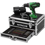Hitachi DS14DJL + 100-delige Toolbox