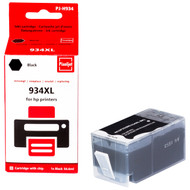 Huismerk HP 934 Cartridge Zwart XL (Pixeljet - C2P23AE)