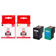 Huismerk HP 338/343 Cartridge 4-Kleuren (Pixeljet - SD449EE)
