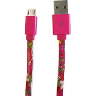 Accessorize Rose Micro USB Kabel 1m Roze