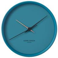 Georg Jensen Henning Koppel Clock Rvs 22 cm Blauw