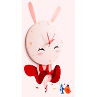 JP4KIDS Wandklok Sweet Rabbit