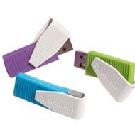 Verbatim Swivel Usb 8 GB x 3 (Blauw/Groen/Paars)