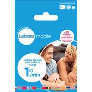 Lebara Prepaid 15 euro beltegoed + 50 MB
