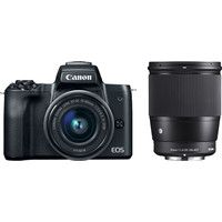 Canon EOS M50 Black + 15-45mm IS STM + Sigma 16mm f/1.4 DC DN