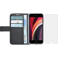Azuri Wallet Apple iPhone SE 2 / 8 / 7 Book Case Zwart + Case Friendly Screenprotector