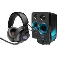 JBL Quantum 600 Zwart + JBL Quantum DUO Speaker
