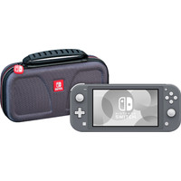Nintendo Switch Lite Grijs + Bigben Officiële Nintendo Switch Lite Beschermtas