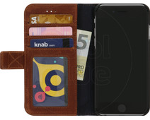 Decoded Wallet Apple iPhone SE 2/8/7/6/6s Book Case Leather Brown