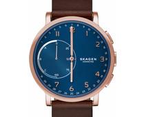 Skagen Hagen Connected Hybrid Rose/Dark Brown Leather