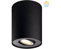 Philips Hue Pillar opbouwspot White Ambiance 1-lichts Zwart + dimmer