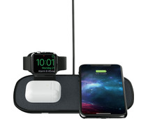 Mophie 3 in 1 Draadloze Oplader 7,5W met Apple Watch Stand Zwart