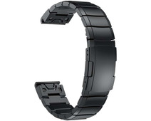 Just in Case Garmin Fenix 6 / 6 PRO RVS Bandje Zwart