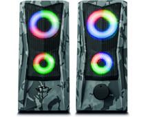 Trust Gaming GXT 606 Javv RGB verlichte 2.0 luidsprekerset - Grijs camo