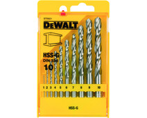 DeWalt 10-piece metal drill set HSS-G