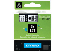 Dymo D1 Name Labels Black/White (9mm x 7m)