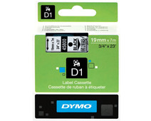 Dymo D1 Name Labels Black-White (19 mm x 7 m)