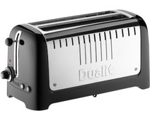 Dualit Lite Gloss 2 Slot Long Zwart