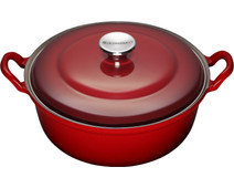 Le Creuset Faitout Dutch Oven/Casserole 32cm Cherry Red
