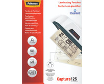 Fellowes Laminating Sheets Capture 125mic A4 (100 units)