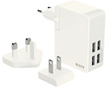 Leitz Travel Charger 4X USB White