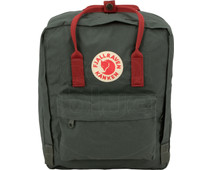 Fjällräven Kånken Forest Green / Ox Red 16L