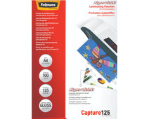 Fellowes Laminator covers SuperQuick 125 mic A4 (100 Pieces)