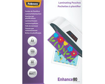 Fellowes Lamineerhoezen Enhance Mat 80 mic A4 (100 Stuks)