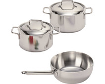 Demeyere Apollo 3-piece Cookware Starter Set