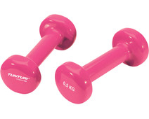 Tunturi Vinyl Dumbbells 2x 0,5 kg Pink