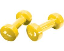 Tunturi Vinyl Dumbbells 2x 1,5 kg Yellow