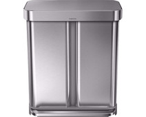 Simplehuman Rectangular Liner Pocket  GFT 24+34 Liters Stainless Steel