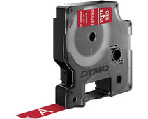 Dymo LW Durable D1 Label White-Red (12 mm x 3 m)