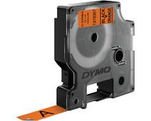 Dymo LW Durable D1 Label Black-Orange (12 mm x 3 m)