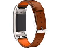 Just in Case Leren Polsband Fitbit Charge 2 Lichtbruin