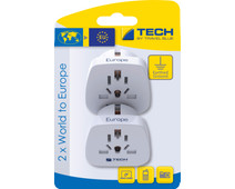 Travel Blue 2 x World Adapter - Europe